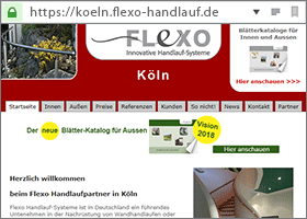 Flexo Handlauf Partner in Köln